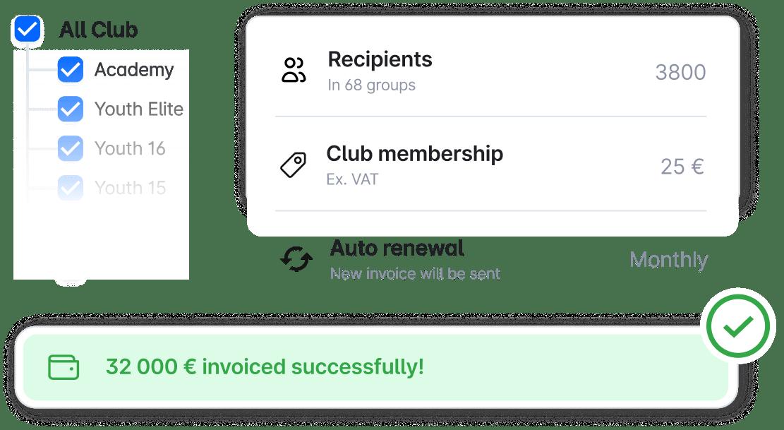 Messaging, wall posts, and calendar
